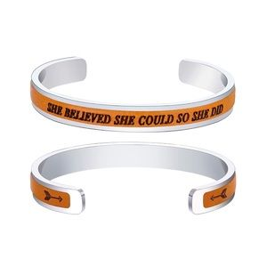 "Jewelry - NEW ""She believe she could so she did"" bracelets"